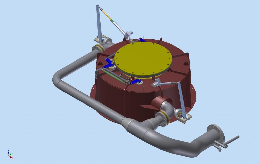 Ensemble mécanique turbine Pelton 2 injecteurs