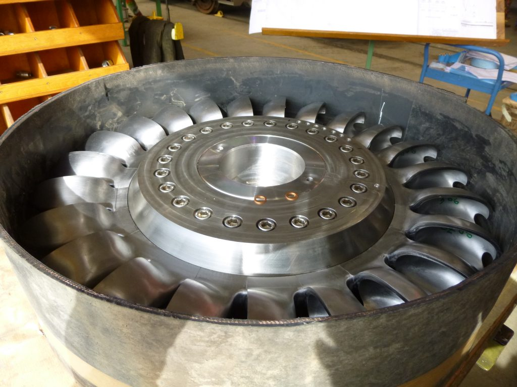 Roue turbine Pelton